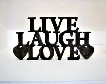 Scrolled Live, Laugh, Love Wall Art