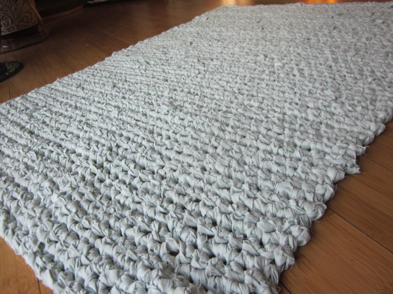 Crocheting Rag Rugs : Handmade Crochet Rug Crochet Rag Rug by cjoycecreations on Etsy