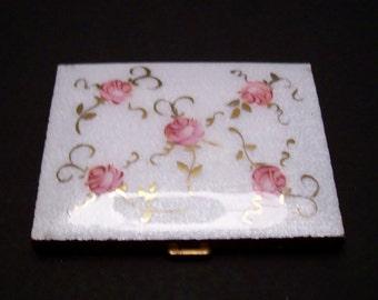 Marhill 5th Avenue Guilloche  Rose decorated Cigarette Case
