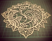 PERSONAL USE Cut it yourself 'Paisley Sun' papercut template