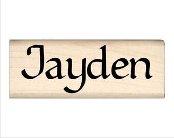 Name Rubber Stamp for Kids  - Jayden