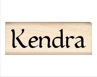 Name Rubber Stamp for Kids  - Kendra