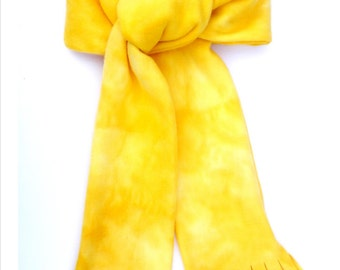 Marbled Cheddar Cheese Scarf - Buttery Soft Quality Fleece