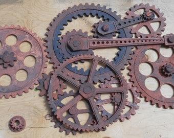 Gear Wall Decoration- 3 feet by 5 feet Wooden Gears, Wood Gears, Foundry Gears, Industrial Wall Decor, Steampunk Decor