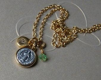 Baptism Gift.Custom Gift. Catholic Gift.St. Benedict Personalized Gift.Custom Gift.Hand Stamped Gift .St.Benedict Necklace.Catholic Jewelry