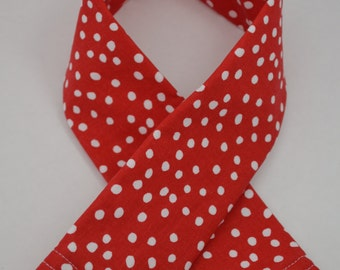 Red and White Polka Dot Padded Camera Strap Cover