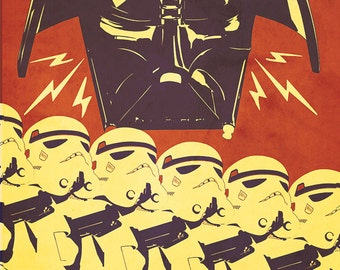 "Star Wars Propaganda: Support Our Troops, Patty McPancakes 24 x 36"" Fine Art Print"
