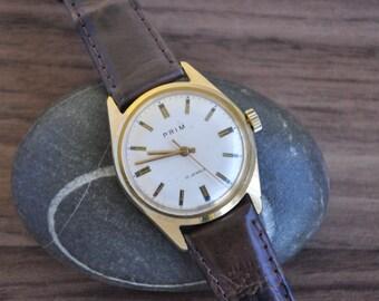 Vintage Czechoslovakia Prim Watch, Prim, Prim Watch, Gold Watch, Gold watch Men, Vintage Gold Watch, Vintage Watches Men, Vintage Watch