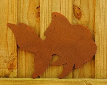 Rusty Goldfish Garden Decor