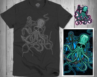 Octoskull Nautical Octopus Print Package