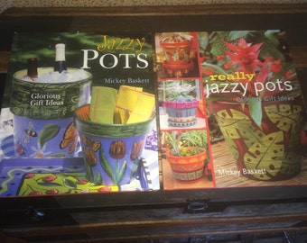 Jazzy Pots & Really Jazzy Pots Mozaic Crafting Books  Two Companion Books