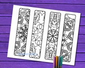 To color Bookmarks, Adult coloring Bookmarks, Color Your Own Bookmark