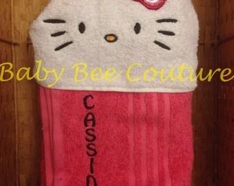 Hello kitty Hooded Towel - sanrio hello kitty full sized standard hooded bath towel