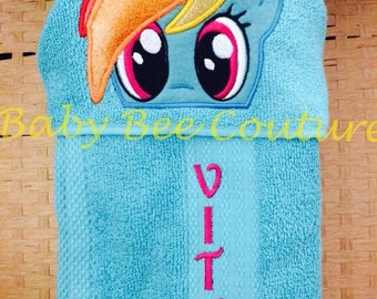 Rainbow Dash Hooded Towel My Little Pony MLP