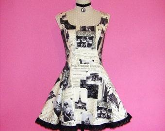 Sew Quaint...April in Paris Goth Lolita Steampunk Skater Prom Dress with Built-in Petticoat