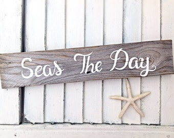 Inspirational Wall Art-Seas the Day-Motivational Wall Decor