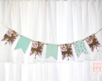 MADE TO ORDER Merry Go Round Horses Glitter High Chair Banner