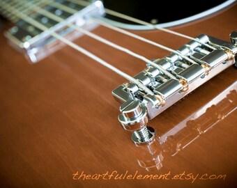 Guitar decor, Music artwork, Modern wall pictures // Electric Bass Guitar No.2~ Bridge