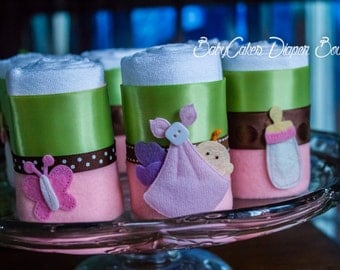 Baby Girl Shower Gift | Cloth Diaper | Diaper Cupcakes | It's a Girl