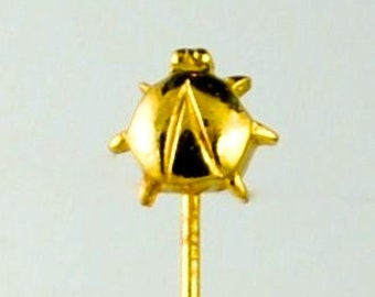 Vintage Stick Pin Ladybug Stick Pin Hat Pin Vintage Pin Gold Tone