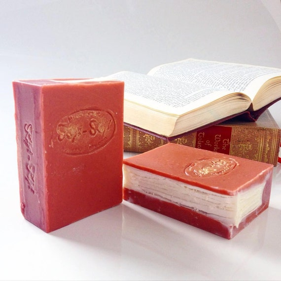 Book Soap, Handmade Literary Gift, Gift For Book Lover, Unique Soap, One of A Kind Soap