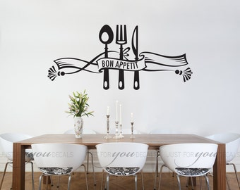 High Quality Kitchen Wall Decal   Dining Room Wall Decal   Bon Appetit   Wall Stickers    Custom