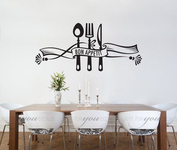 kitchen wall decal dining room wall decal bon appetit