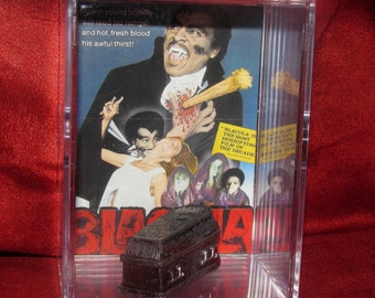 "Blackula"" Collectible 'Coffin'(Inspired) display / unique gift idea..ships out fast great addition to a horror collection"