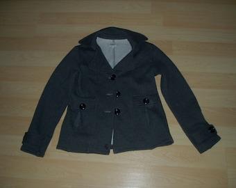 Vintage women's coat , vintage peacoat , women size medium , Suzy Sheer Peacoat , vintage jacket , grey , vintage 90s , grey coat medium