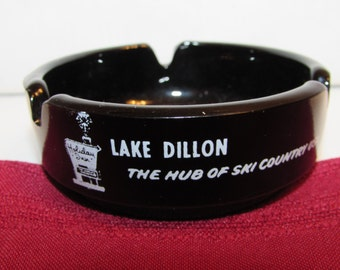 LAKE DILLON ASHTRAY Holiday Inn Tobacciana Souvenir