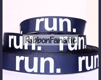 "5 yds 7/8"" Run on Navy Blue Grosgrain Ribbon"