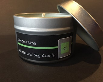 Coconut Lime - Candle Tin - 6 oz
