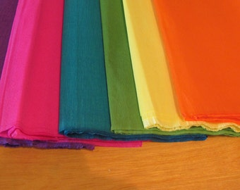 "6 Sheets of CREPE paper 19"" X 78"" Bright Paper Flower Mix"