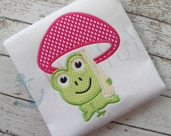 SPRING FROG machine embroidery design