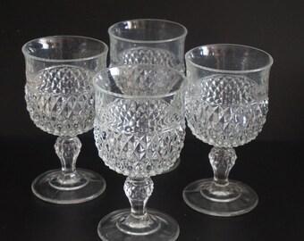 Vintage, Set of Four Large Wine Goblets