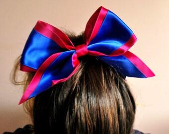 Cheer bow/ Scrunchie/ Two colors/ CUSTOM/ Cheerleader/ Handmade