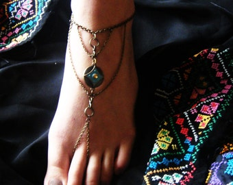 Barefoot Sandals, Barefoot Sandal Foot Bracelets, Foot Jewelry Barefoot Sandals,Bronze foot jewelry Barefoot sandal for beach