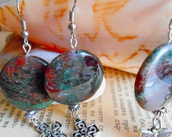 Agate  Earrings, Agate  Dangle Earrings