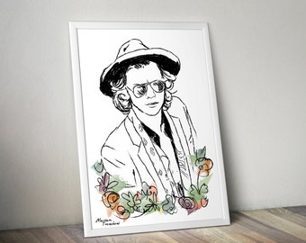 Harry Styles (One Direction) Poster Illustration