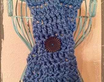 Crochet Neckwarmer with Fringe