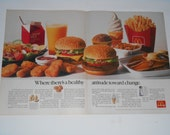 2 Page 1991 McDonalds Print Advertisement