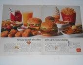 2 Page 1991 McDonalds Print Advertisement