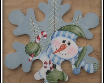 Snowman Candy Cane Snowman painting pattern packet instant download
