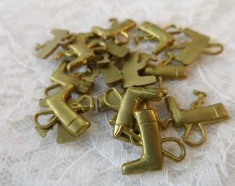 "mixed plate brass solid boot/crop charms,1/2"",12pcs-CHM198"