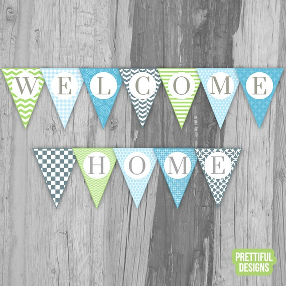 Printable Welcome Home Sign: Welcome Home Banner Printable Instant Download Jack