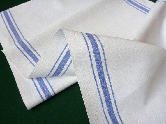 Vintage Linen handwoven off white Towel hanging dish towel