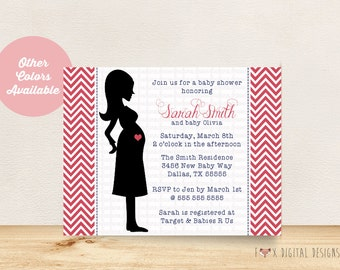 Baby Bump Invitation - Boy or Girl - Custom