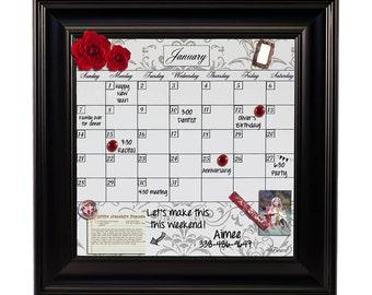 framed whiteboard calendar framed dry erase calendar