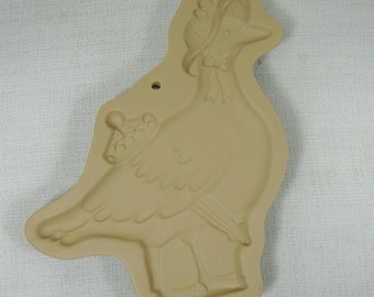 Brown Bag Cookie Art Mold Mother Goose 1992 Collectible Stoneware Free Shipping