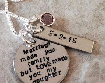 ... personalized necklace stepdaughter stepmom wedding gift monogrammed